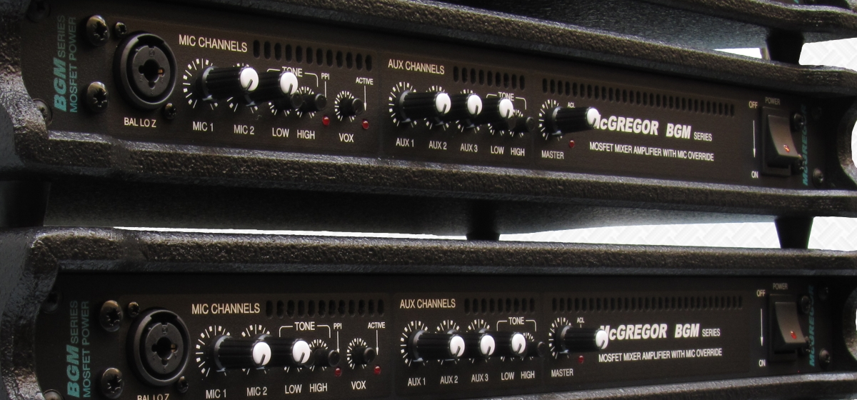 BGM Series Mixer Amplifiers